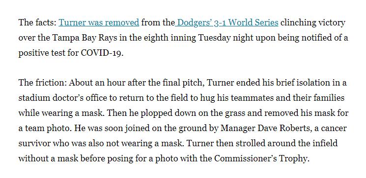 Justin Turner contextual news screenshot